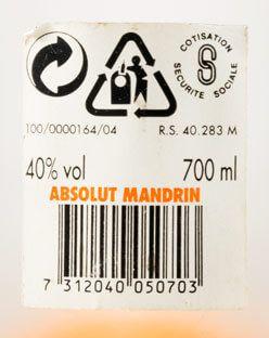 Vodka Absolut Mandarin