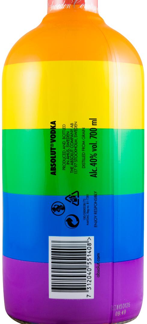 アブソルート・ウオッカ・虹の色