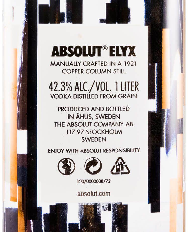 Vodka Absolut Elyx 1L