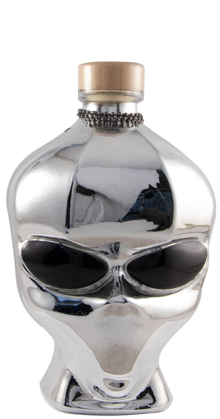 Vodka Outerspace Alien Head Chrome Edition