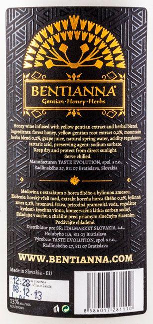 Bentianna Gentian Honey Herbs