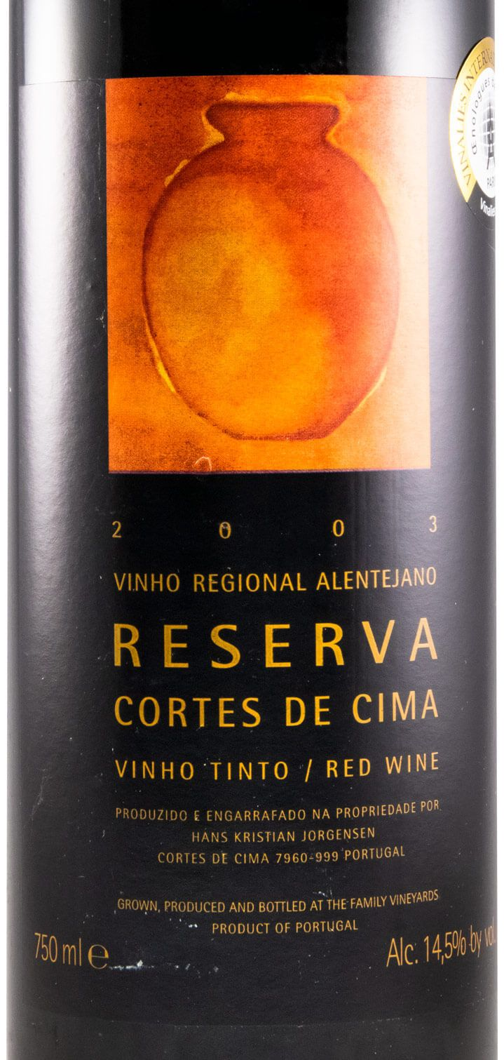 2003 Cortes de Cima Reserva red