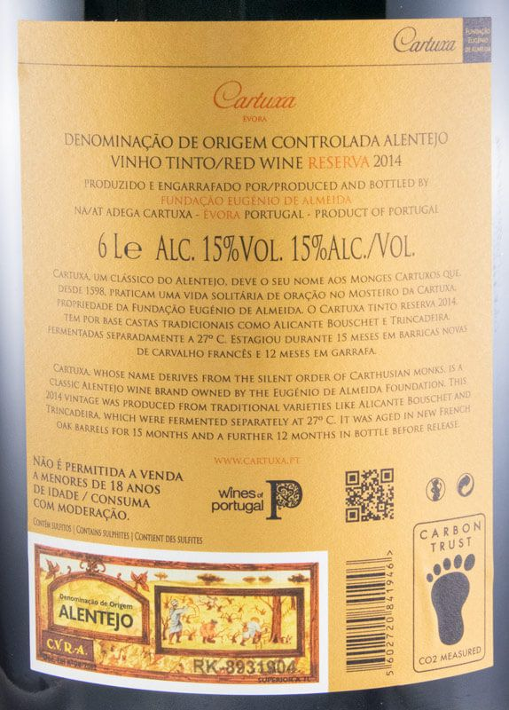 2014 Cartuxa Reserva tinto 6L