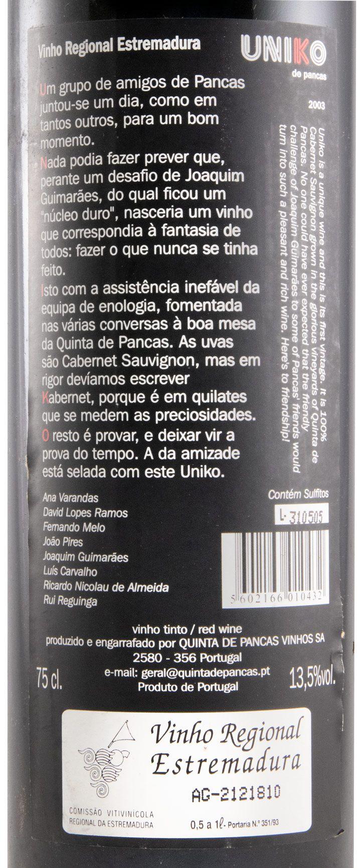 2003 Uniko de Pancas tinto