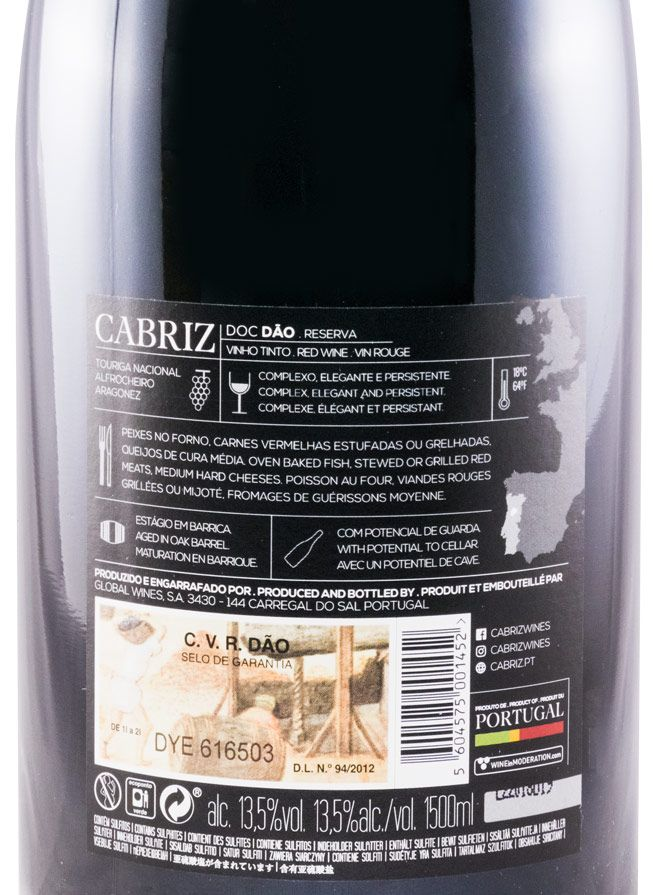2015 Cabriz Reserva red 1.5L