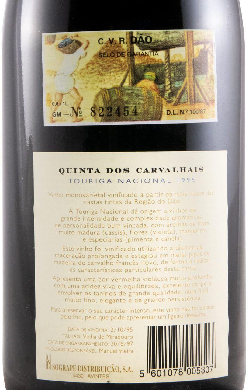 1995 Quinta dos Carvalhais Touriga Nacional red