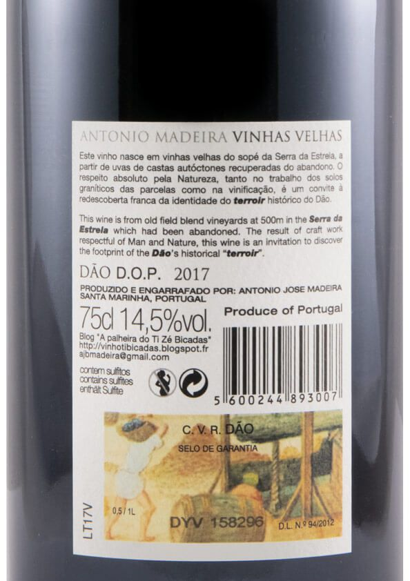 2017 António Madeira Vinhas Velhas red