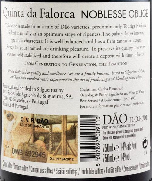 2011 Quinta da Falorca Noblesse Oblige tinto