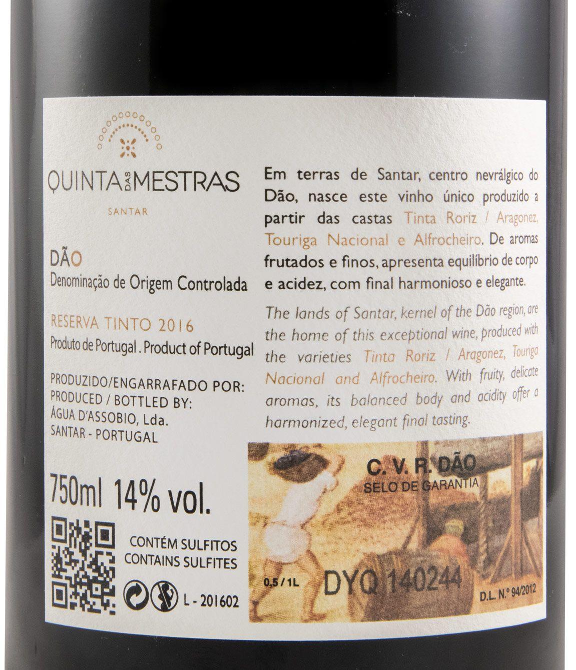 2016 Quinta das Mestras Reserva Oaked Limited Edition tinto
