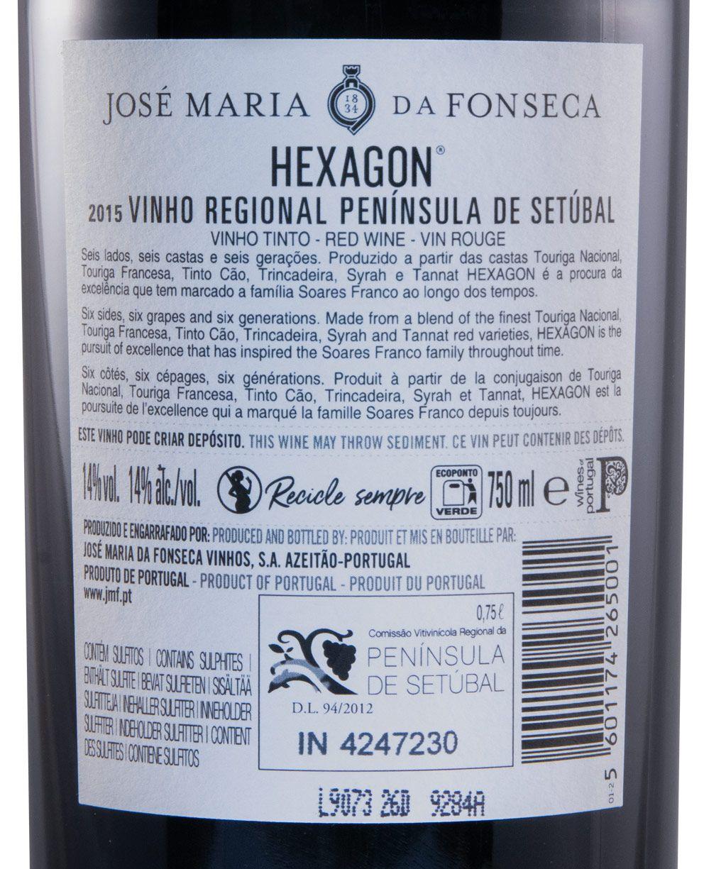2015 José Maria da Fonseca Hexagon red