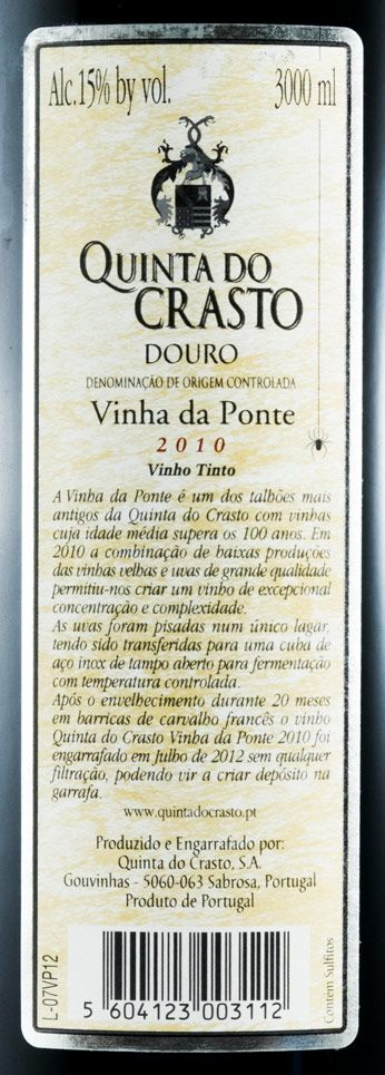 2010 Quinta do Crasto Vinha da Ponte tinto 3L