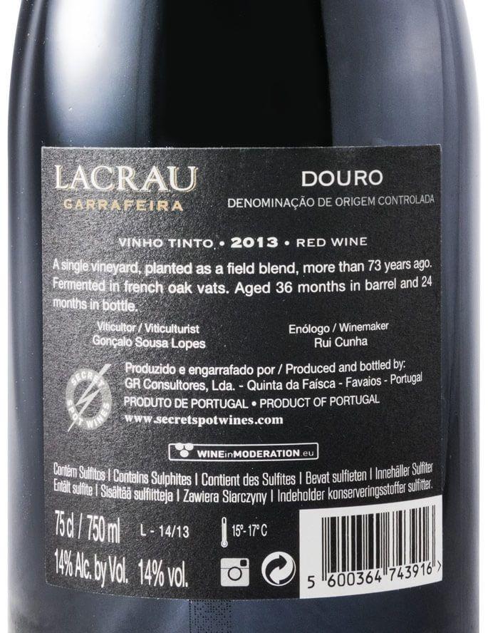 2013 Lacrau Garrafeira red