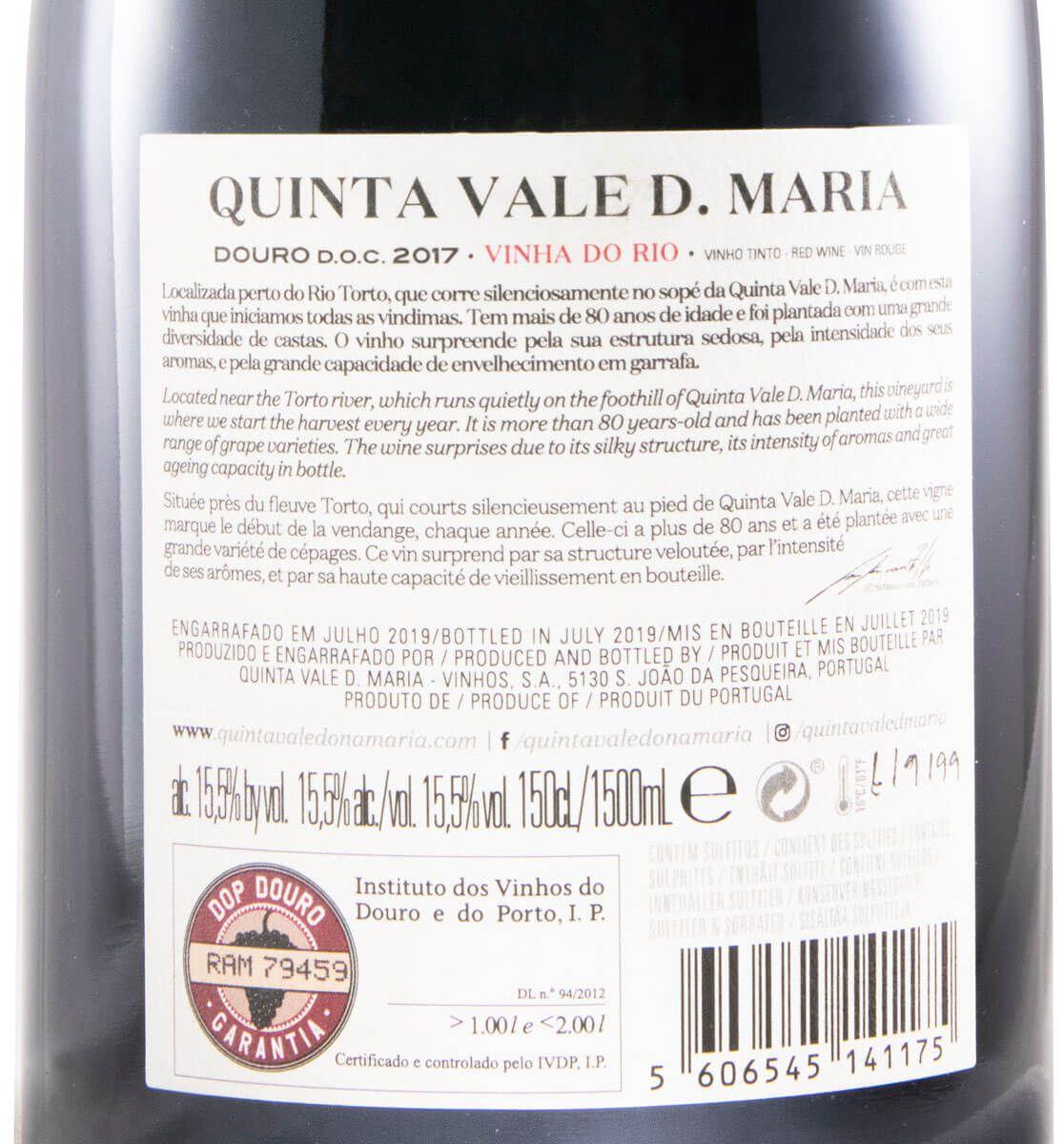 2017 Quinta Vale Dona Maria Vinha do Rio tinto 1,5L
