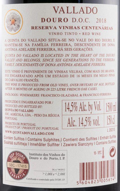 2018 Vallado Reserva tinto 1,5L