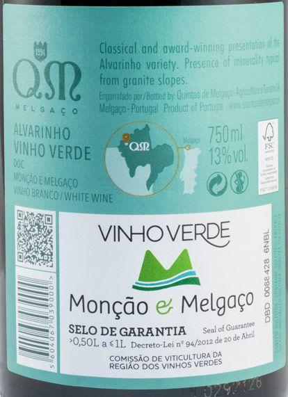 2020 Quintas de Melgaço QM Alvarinho white