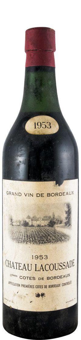 1953 Château Lacaussade Côtes de Bordeaux tinto