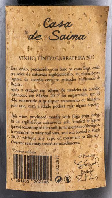 2015 Casa de Saima Garrafeira tinto