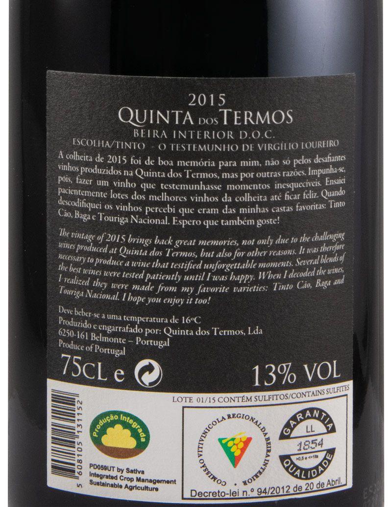 2015 Quinta dos Termos Testemunho Virgílio Loureiro красное