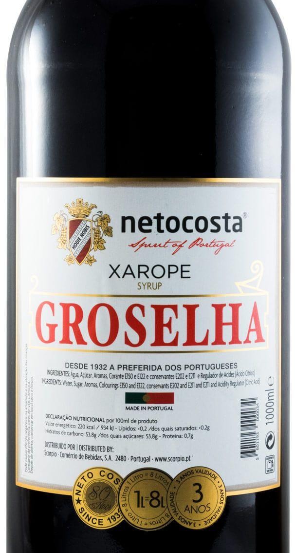 Syrup Groselha Neto Costa
