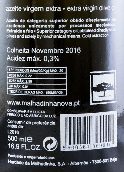 Olive Oil Herdade da Malhadinha Nova Virgem Extra 50cl