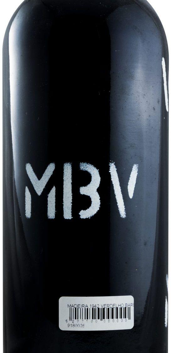 1942 Madeira Barbeito MBV Verdelho