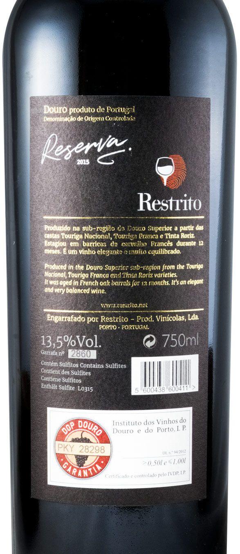 2015 Restrito Reserva tinto