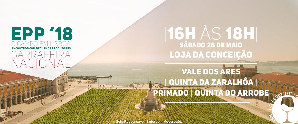 Encontro com Pequenos Produtores, Vale dos Ares (Vinho Verde), Quinta da Zaralhôa (Douro), Primado (Dão) e Quinta do Arrobe (Tejo)