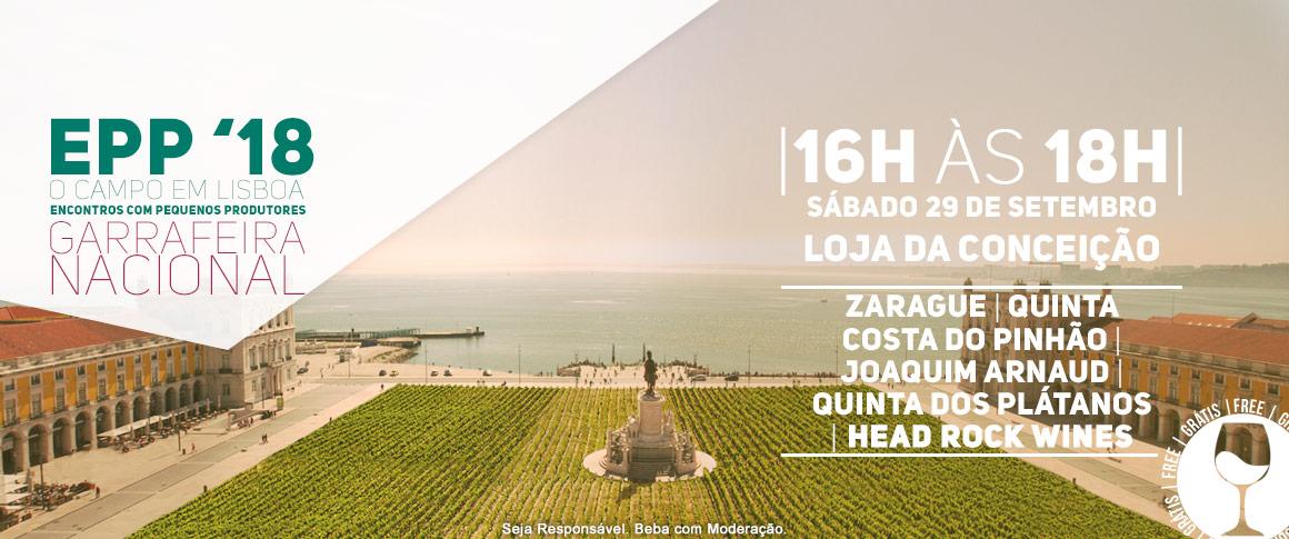 No último sábado do mês a Garrafeira Nacional - Loja da Conceição reúne cinco pequenos produtores nacionais, Head Rock Wines (Trás-os-Montes), Zarague (Vinho Verde), Quinta da Costa do Pinhão (Douro), Joaquim Arnaud (Alentejo) e Quinta dos Plátanos (Lisbo