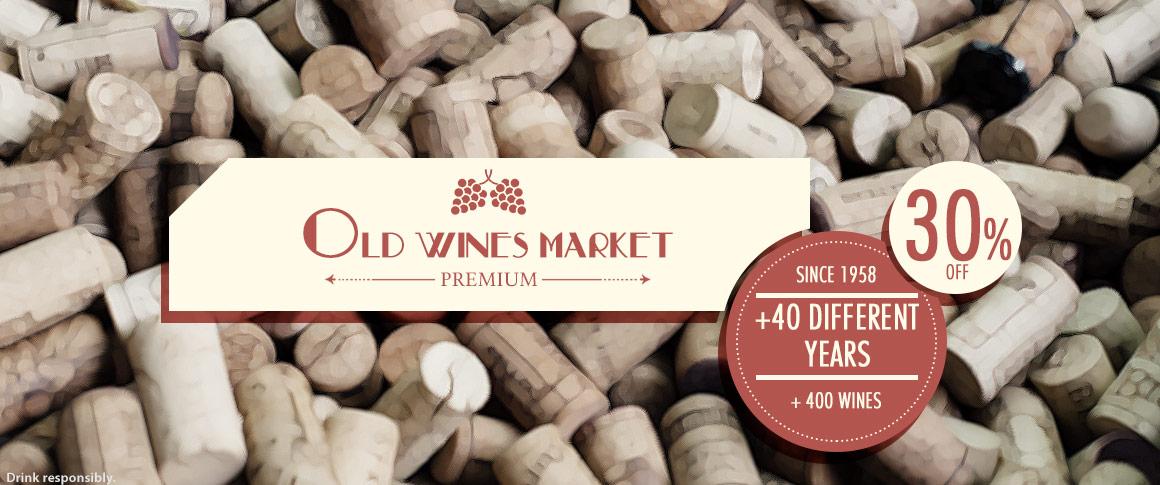 Mercado vinhos antigos 30%