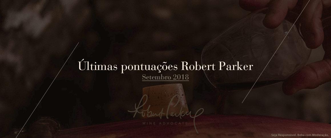 Últimas pontuações Robert Parker vinhos portugueses